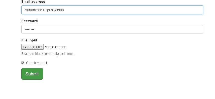 Membuat Form input data menggunakan CSS Bootstrap