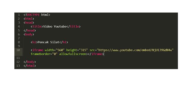 Cara Memasukkan Video Youtube Ke Dalam Html Webhozz Blog