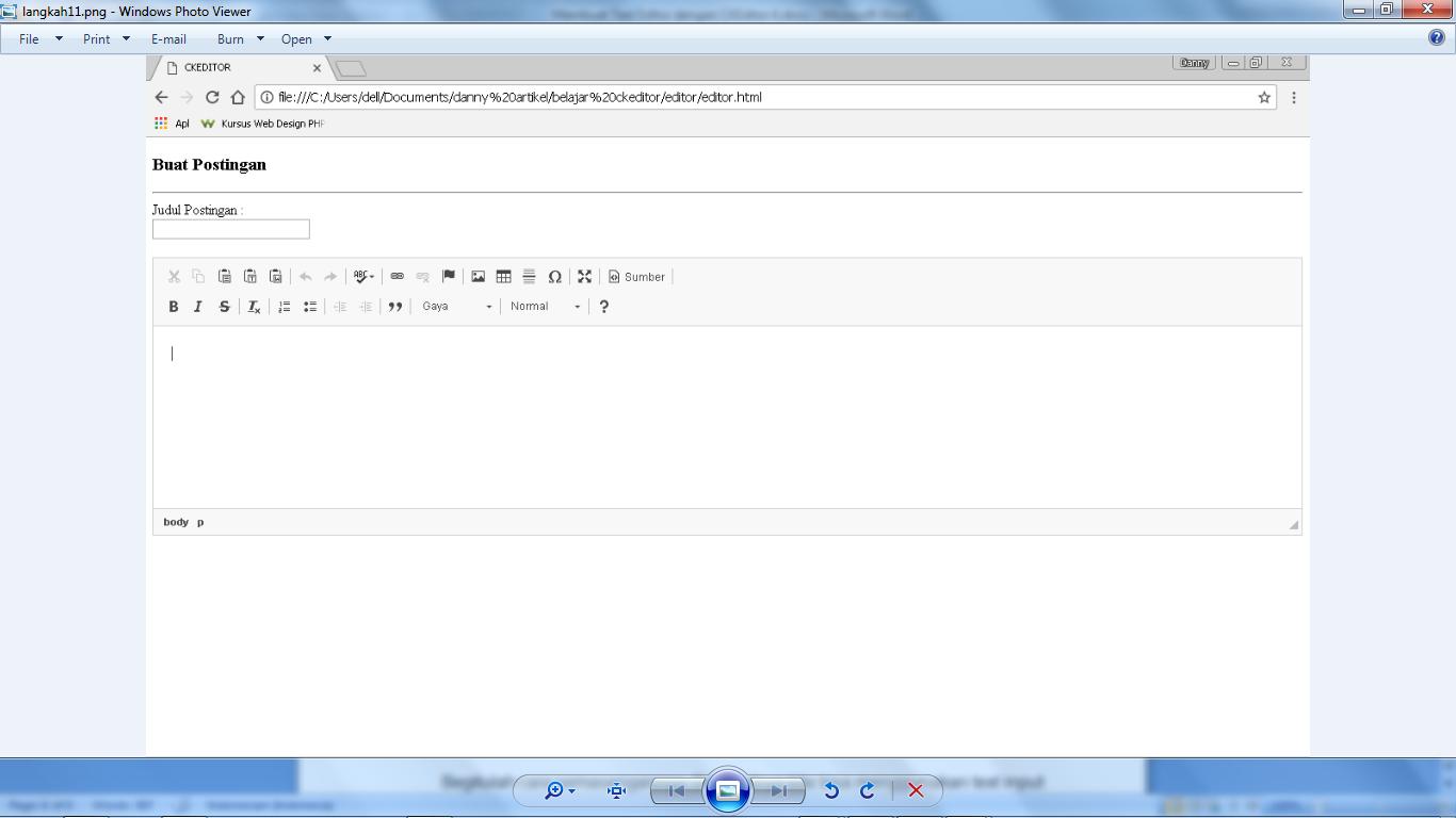 Membuat Text Editor dengan CKEditor 4 - WebHozz Blog