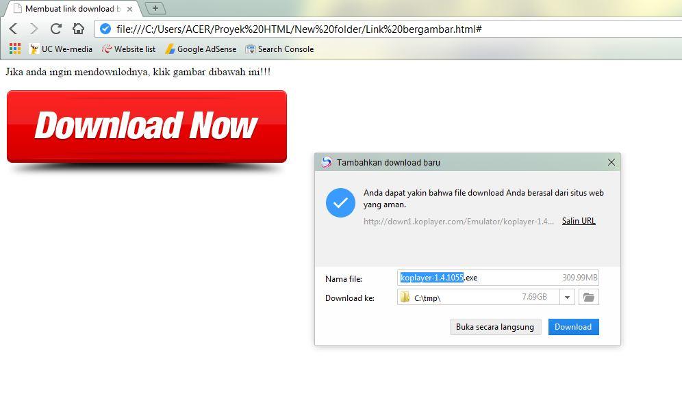 Membuat Link Download Dengan Menggunakan Html Webhozz Blog